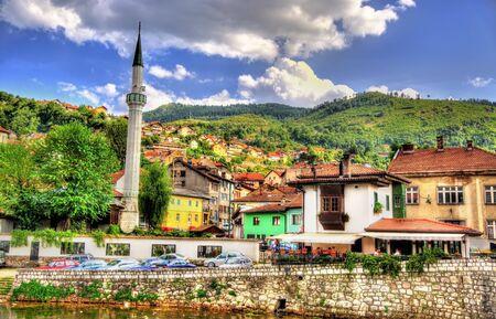 sarajevo: View of the historic centre of Sarajevo - Bosnia and Herzegovina