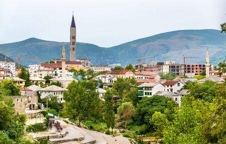 herzegovina: View of Mostar old town - Herzegovina