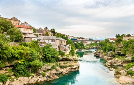 most: View of Mostar old town - Herzegovina