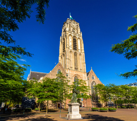 church buildings: Grote of Sint-Laurenskerk, a church in Rotterdam, the Netherlands Editorial