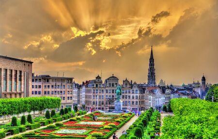 Dramatic sunset over Brussels - Belgium Redakční