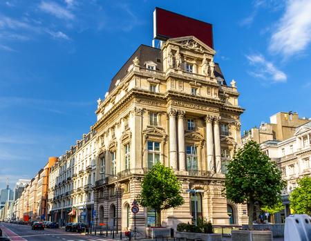 street corner: Segers House in Brussels - Belgium