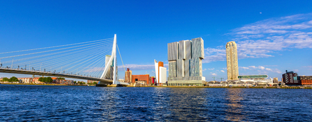 maas: The Nieuwe Maas river in Rotterdam - the Netherlands Stock Photo