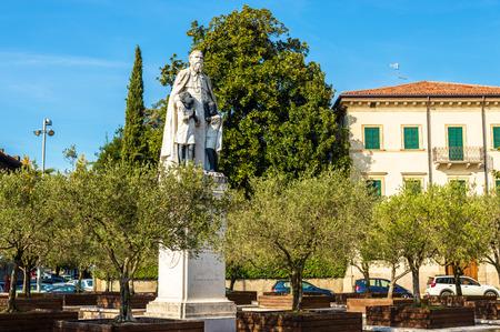 daniele: Statue of Saint Daniele Comboni in Verona - Italy