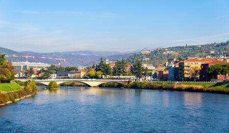 catena: The Adige river in Verona - Italy