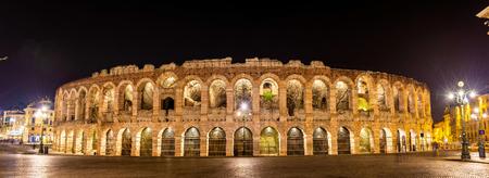 verona: The Arena di Verona at night - Italy