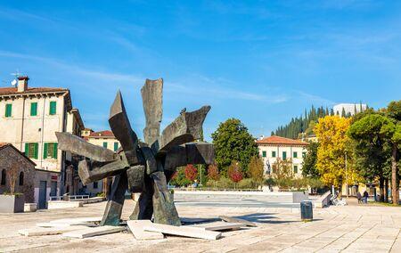 veneto: Piazza Isolo in Verona - Italy, Veneto