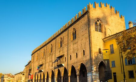 ducale: Facade of the Palazzo Ducale in Mantua - Italy Editorial