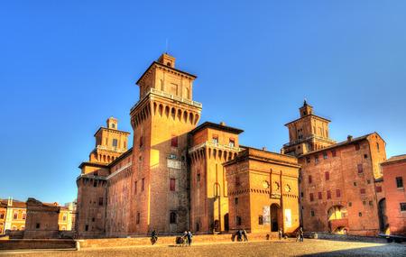 Castello Estense or castello di San Michele in Ferrara - Italy Editorial