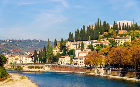 pietro: View of San Pietro hill in Verona - Italy