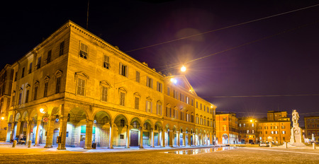 piazza: Buildings on Piazza Roma in Modena - Italy Editorial