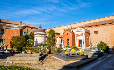 monumental cemetery: The Monumental Cemetery of Certosa - Ferrara, Italy