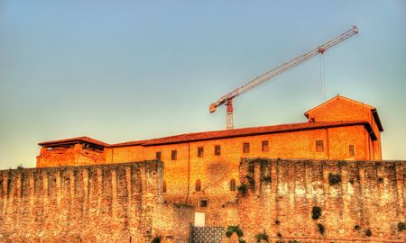 rimini: View of Castel Sismondo in Rimini - Italy Editorial