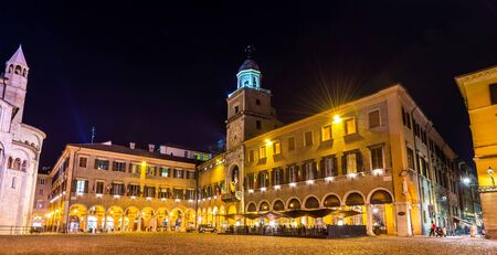 communal: The Communal Palace, the town hall of Modena - Italy Editorial