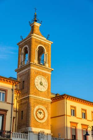 martiri: Clock tower on Martiri Square in Rimini - Italy