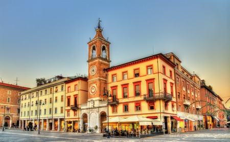 martiri: Tre Martiri Square in Rimini - Italy Stock Photo