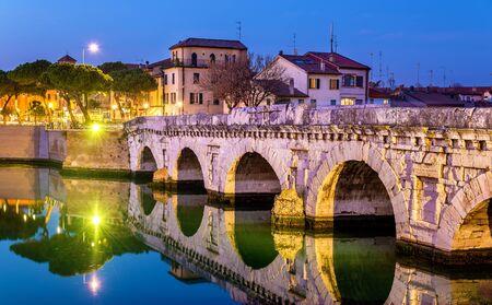 De brug van Tiberius in Rimini - Italië