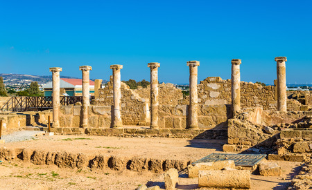 roman columns: Roman columns in Paphos Archaeological Park - Cyprus