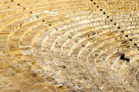 amphitheatre: Ancient amphitheatre in Kourion - Cyprus Stock Photo
