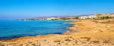 coastline: Mediterranean coastline in Paphos - Cyprus Stock Photo
