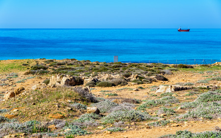 tumbas: Tombs of the Kings, an ancient necropolis in Paphos - Cyprus