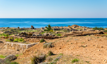necropolis: Tombs of the Kings, a necropolis in Paphos - Cyprus Stock Photo