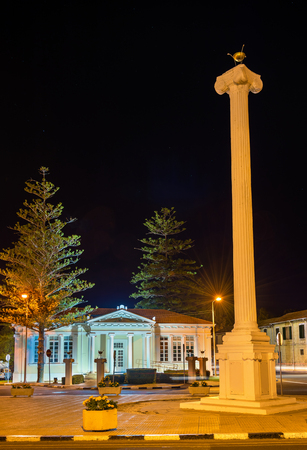 night school: The 28th of October Column in Paphos - Cyprus