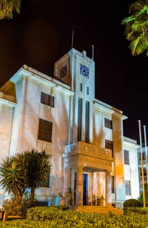 center hall colonial: Night view of Limassol city hall - Cyprus