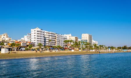 Finikoudes Beach - 키프로스 라르 나카 시티 스톡 콘텐츠 - 50463695