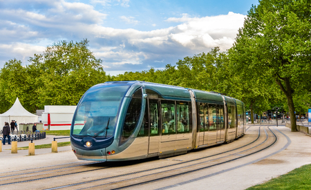 A tram in Bordeaux - France, Aquitaine Stock Photo