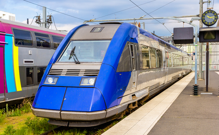 regional: Regional express train at Tours station - France