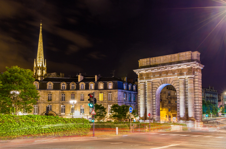 france: Porte de Bourgogne in Bordeaux, France
