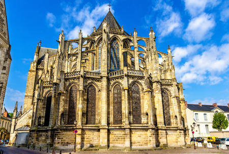 touraine: Saint Gatiens Cathedral in Tours - France