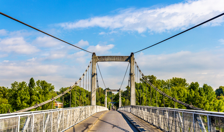 touraine: Cable-stayed bridge on the Loire River in Tours - France