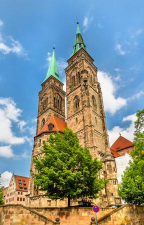 bayern old town: St. Sebaldus Church in Nuremberg - Germany, Bavaria