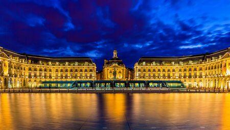 gironde: Tram on Place de la Bourse in Bordeaux - France