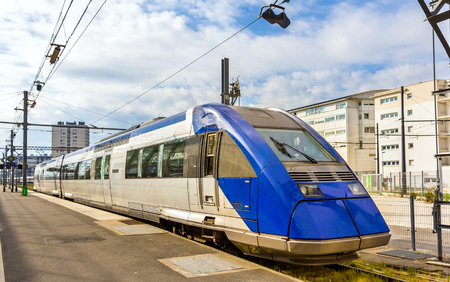 bombardier: Regional express train at Tours station - France