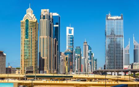 skyscraper sky: View of skyscrapers in Downtown Dubai - the UAE
