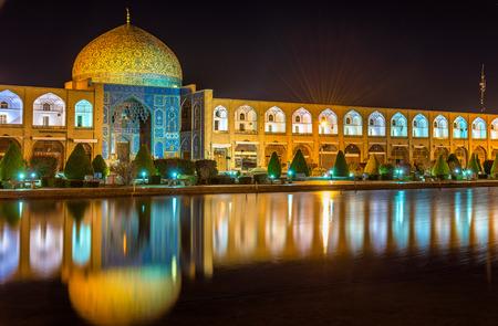 Sheikh Lotfollah Mosque on Naqsh-e Jahan Square of Isfahan, Iran 免版税图像