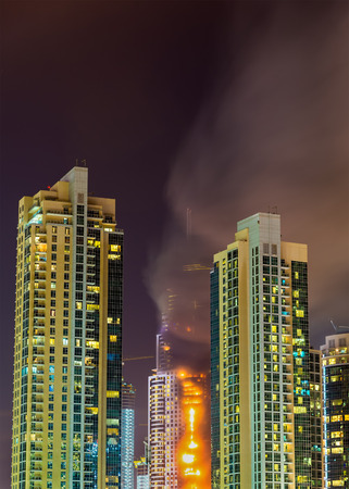 arabic  style: Fire accident in Dubai on New Years Eve 2016