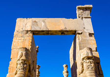 nations: Details of the Gate of All Nations at Persepolis - Iran