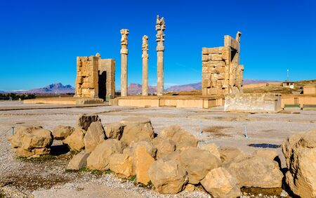 nations: View of the Gate of All Nations in Persepolis - Iran