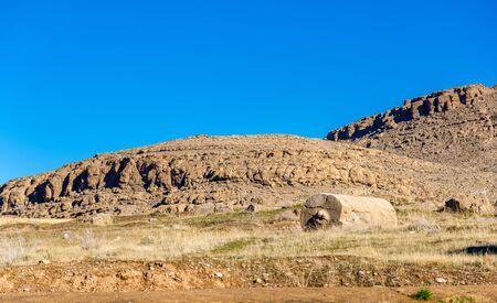fars: Desert near Persepolis - Fars Province, Iran Stock Photo