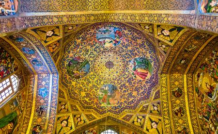 isfahan: Interior of Vank Cathedral in Isfahan, Iran