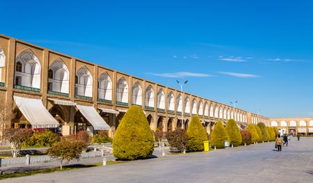 safavid: Naqsh-e Jahan Square in Isfahan - Iran Editorial