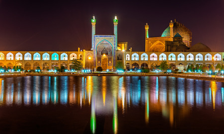 shah: View of Shah (Imam) Mosque in Isfahan - Iran Stock Photo