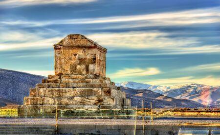 La tumba de Ciro el Grande en Pasargada - Irán