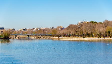 isfahan: View of the Zayanderud river in Isfahan, Iran