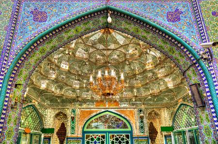 Entrance of Zaid Mosque in Tehran Grand Bazaar - Iran Imagens