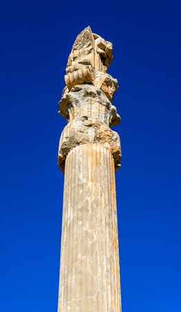 nations: Ancient column at the Gate of All Nations - Persepolis, Iran